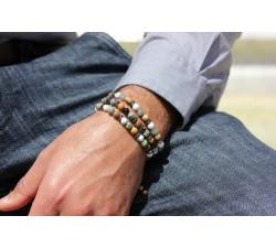 Bracelet Raphaël - Japse Paysage, Turquoise et Howlite