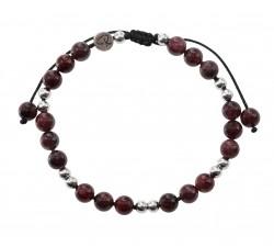 Bracelet Racine - Grenat et Argent 925