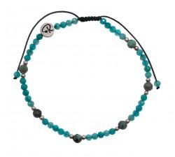 Bracelet Quinta - Amazonite, Turquoise Africaine et Argent 925