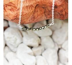 Collier fin - Pyrite et Argent 925