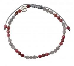 Bracelet Bicolore - Rhodnote, Labradorite et Argent 925