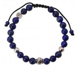 Bracelet Yin & Yang - Lapis Lazuli et Argent 925