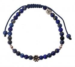 Bracelet Fleur - Lapis lazuli et Argent