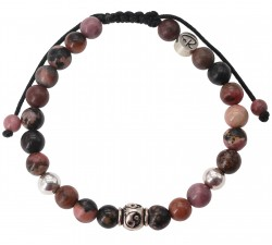 Bracelet Yin&Yang - Rhodonite et Argent 925