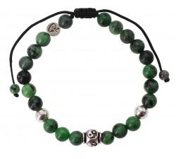 Bracelet Yin&Yang - Rubis Zoisite et Argent 925