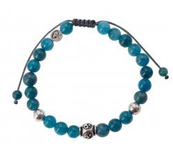 Bracelet Yin & Yang - Apatite et Argent 925