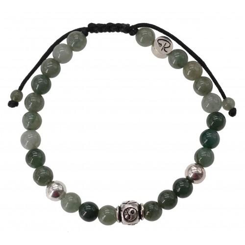 Bracelet Yin & Yang - Jade et Argent 925