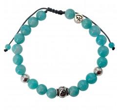 Bracelet Yin & Yang - Amazonite et Argent 925
