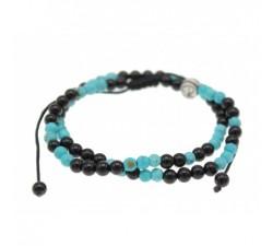Bracelet Reverso Turquoise et Onyx