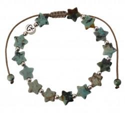 Bracelet Estrella - Turquoise Africaine et Argent 925