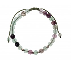 Bracelet Fluorite et Argent 925