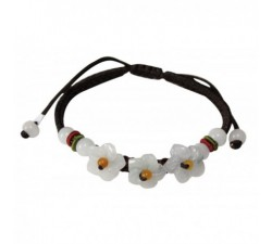 Bracelet Petites fleurs en jade
