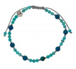 Bracelet Azur - Amazonite, Apatite et Argent 925