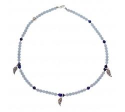 Ras de Cou Angel - Angélite, Lapis Lazuli et Argent 925