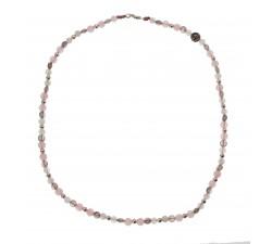 Ras de Cou Tendresse - Quartz Rose, Labradorite, Pierre de Lune et Argent 925