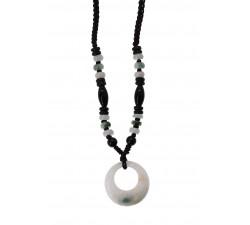 Collier Moon - Jade Blanc et Onyx