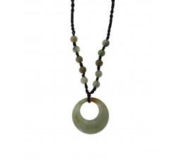 Collier Moon - Jade Vert