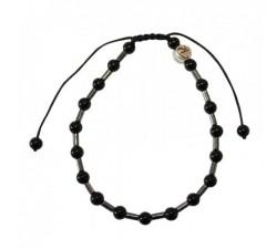 Bracelet Trio en hématite et Onyx