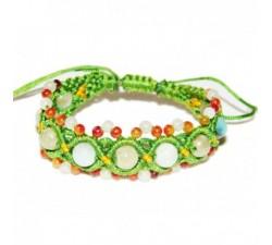 Bracelet Mixte en Jade - Vert anis