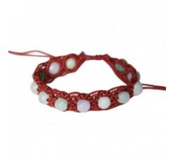 Bracelet Shamballa en Jade - Bronze