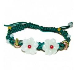 Bracelet Double Fleur - Vert