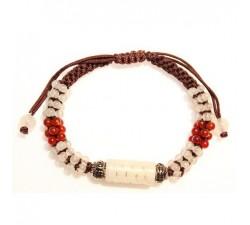 Bracelet Tibétain en Jade blanc
