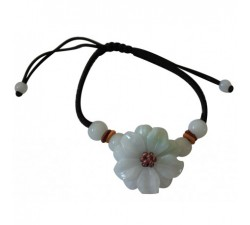 Bracelet Fleur Printanière en Jade
