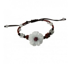 Bracelet Sissi en jade blanc