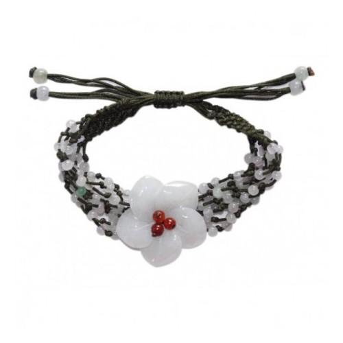 Bracelet Charnelle en jade blanc
