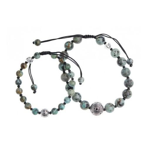 Bracelets de couple Turquoise Africaine et Argent