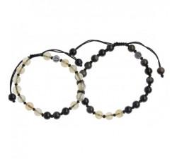 Bracelets Duo en Citrine et Obsidienne