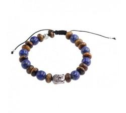 Bracelet de Protection Homme en Oeil de Tigre et Lapis Lazuli