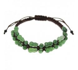 Sautoir en jade vert