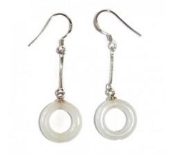 Boucles d'oreilles cercle de jade