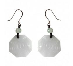 Boucles d'oreilles Yin et Yang en jade