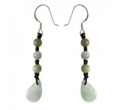 Boucles d'oreilles Gouttelette de jade