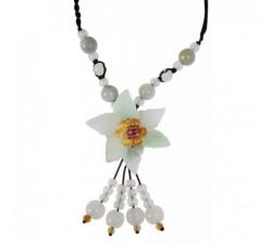 Collier Fleur des Iles - marron