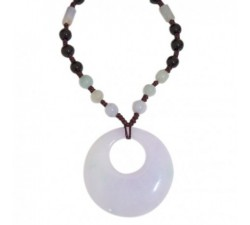 Collier Zen en Jade - marron