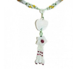 Bracelet Marguerite en jade vert