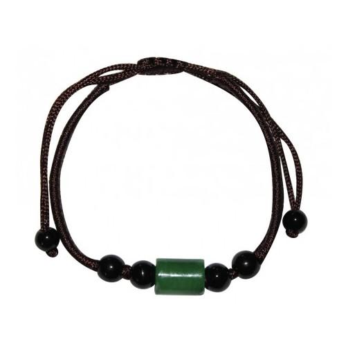 Bracelet Viking en Jade vert