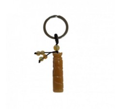 Porte clef Bouddhiste en jade orange