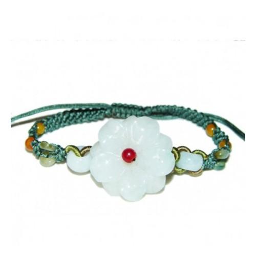 Bracelet Grande Fleur en Jade