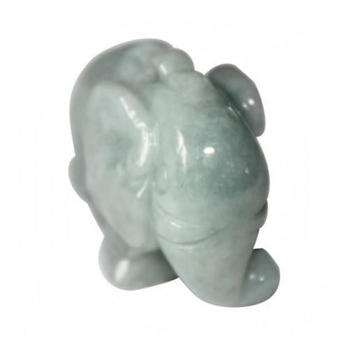 Elephant en jade vert