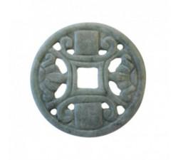 Collier Disque de jade vert