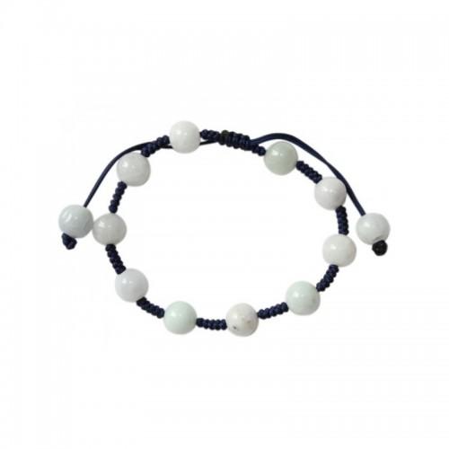 Bracelet chic en jade blanc