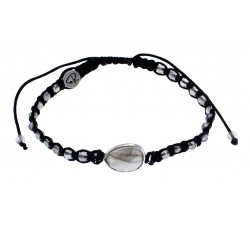 Bracelet médaillon en Labradorite