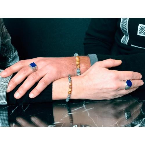 Bracelet perlés en grenat