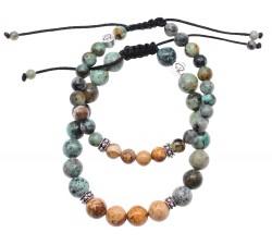 Bracelets de couple Lisboa en Turquoise d'Afrique