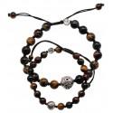 Bracelets de couple 3 Oeil et Argent
