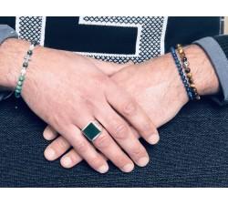 Porte clef Bouddha rieur en jade